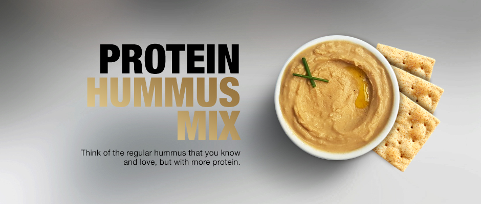 protein hummus mix product page banner