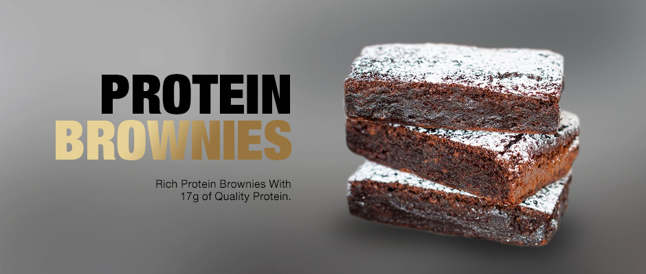 protein brownies product page banner