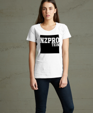 NZProtein printed women's tee