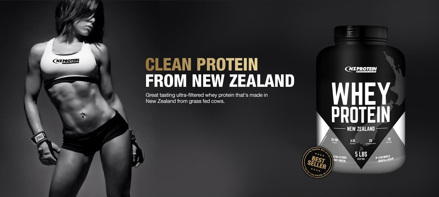 Clean protein from New Zealand banner